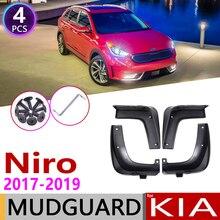 4pcs Anteriore Posteriore Paraspruzzi Auto per Kia Niro DE 2017 2018 2019 Parafango Guard Mud Flap Splash Flaps Parafanghi accessori