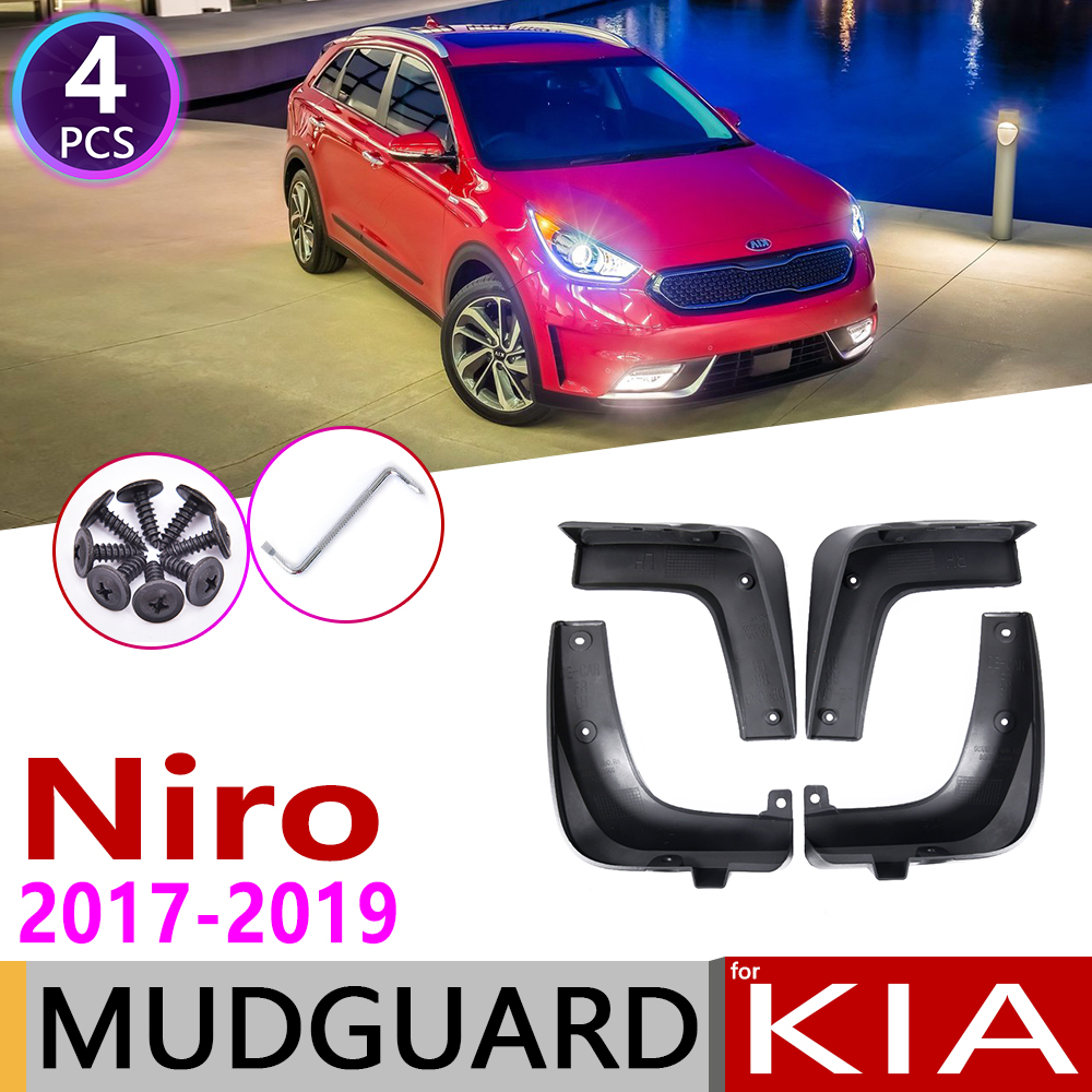 4pcs Front Rear Car Mudflaps For Kia Niro DE 2017 2018 2019 Fender Mud Guard Flap Splash Flaps Mudguards Accessories