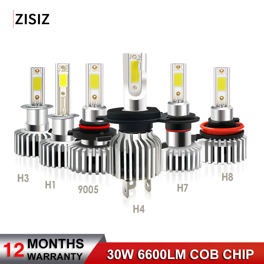 2pcs H4 H1 H3 H7 H11 H8 <font><b>H9</b></font> 9005 9006 880 9012 <font><b>LED</b></font> Bulb <font><b>Canbus</b></font> Auto <font><b>Led</b></font> Headlight Bulbs 72W 8000LM Car Styling 6000K Automobile image