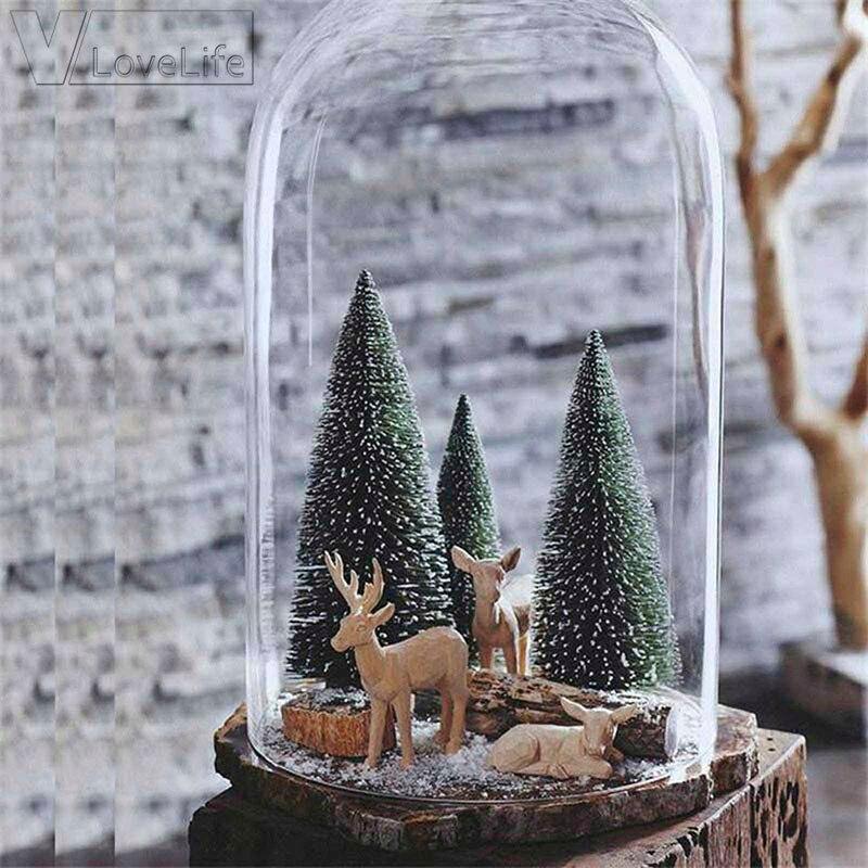 15Pcs Mini Christmas Tree 4.5cm New Year's Mini Christmas Tree Small Pine Tree Desktop Mini Christmas Decor White/Gold/Teal Blue