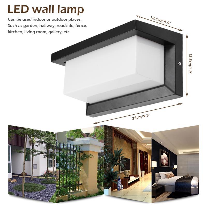 Lâmpada led de parede 8/15w, cob, à prova d' água, ip65, varanda, moderna, lâmpada de parede, para quintal, jardim, cerca, para áreas externas luz clara