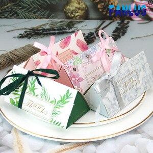 50 шт./компл. искусственные растения с цветами, свадебные сувениры и подарки, украшения, коробки для доставки, упаковочная коробка, подарок дл...