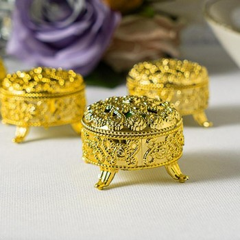 Exquisite European Style Small Censer Electroplating Gold Color Silver Color Wedding Candy Box Retro Decoration 1pc Little Box image