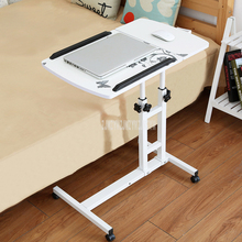 Mini Mordern Design Bed Side Table Desktop Adjustable Height Liftable For Laptop Desk Notebook Stand Tray With Wheel Movable