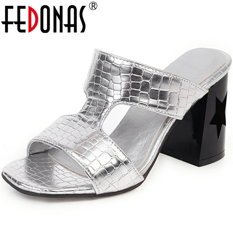 FEDONAS Classic Strang Heels Rome Women Sandals 2020 New Fish Mouth Fashion Sweet Shoes Woman Summer Casual Party Shoes Woman