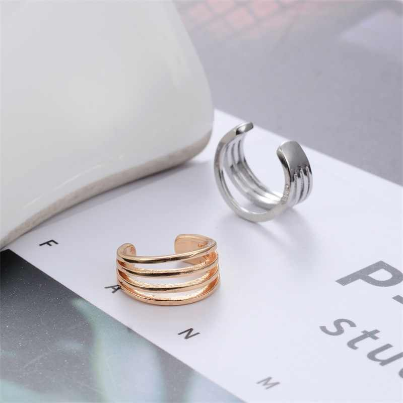 no pierced clip on earrings men ear cuff korean women earrings fashion jewelry ear earcuff