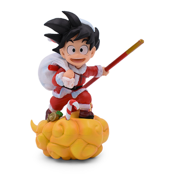 цена на 13cm New DragonBall Z SonGoku Somersault Cloud Christmas Gokou PVC Action Figure Collectible Model Toys With Box