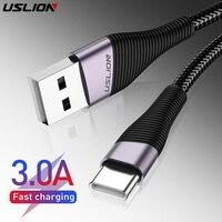 USLION 3M USB Typ C Kabel Für Samsung S10 Huawei P30 Pro 3 0 EINE Schnelle Ladung Typ-C telefon Lade Draht USB C Kabel für Samsung s9