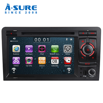 A-Sure Car Multimedia Player 7 Inch 2 Din Cortex A9 Auto Radio Stereo DVD GPS Navigation For AUDI A3 S3 RS3 8V 8PA DAB+ SWC BT image