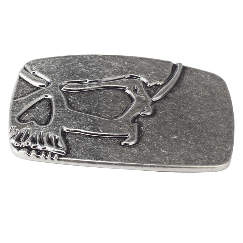 Skull skeleton belt buckle Belt DIY accessories Western cowboy style Smooth belt buckle Punk rock style Undead pattern buckle