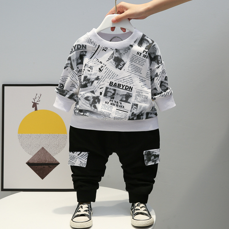 Baby Winter Autumn Clothes Sets Toddler Letter Outfits Children Boy Girl Sport Suit Kids 1 2 3 4 years Fall Clothing Wear 3
