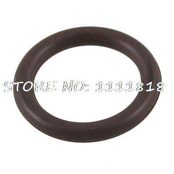 Coffee Color Fluorine Rubber O Ring Grommets 22mm X 16mm X 3mm