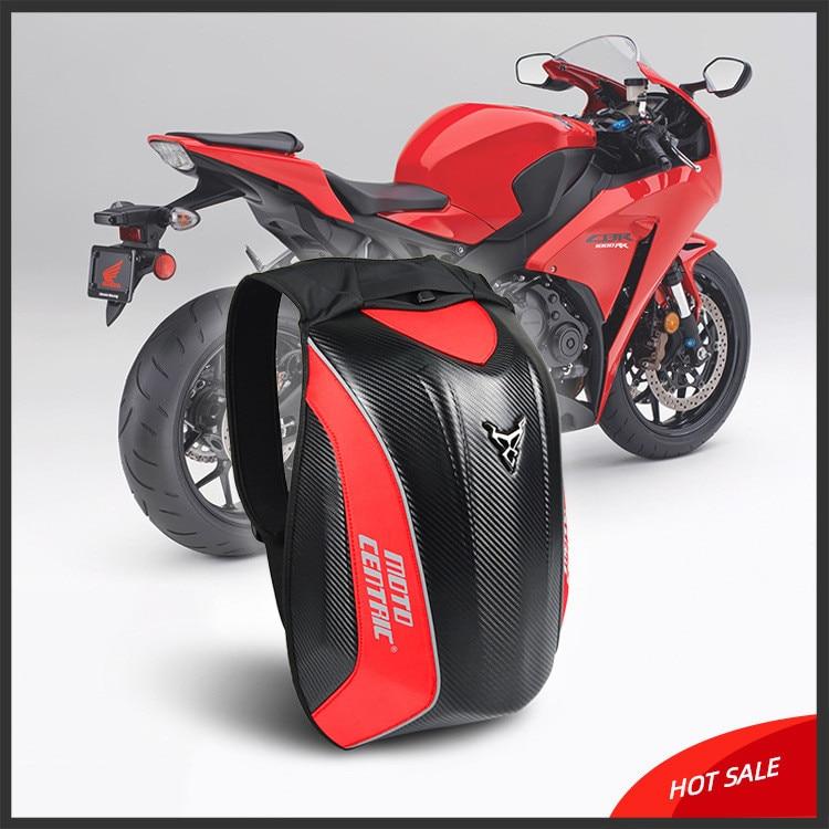 dewdropy Mochila Moto Impermeable 56x34x18cm Fibra De Carbono Motocicleta Mochila Mochila Montar MC Mochila Rider Motocicleta Impermeable C/áscara Dura Turtle Bag Mochilas Moto