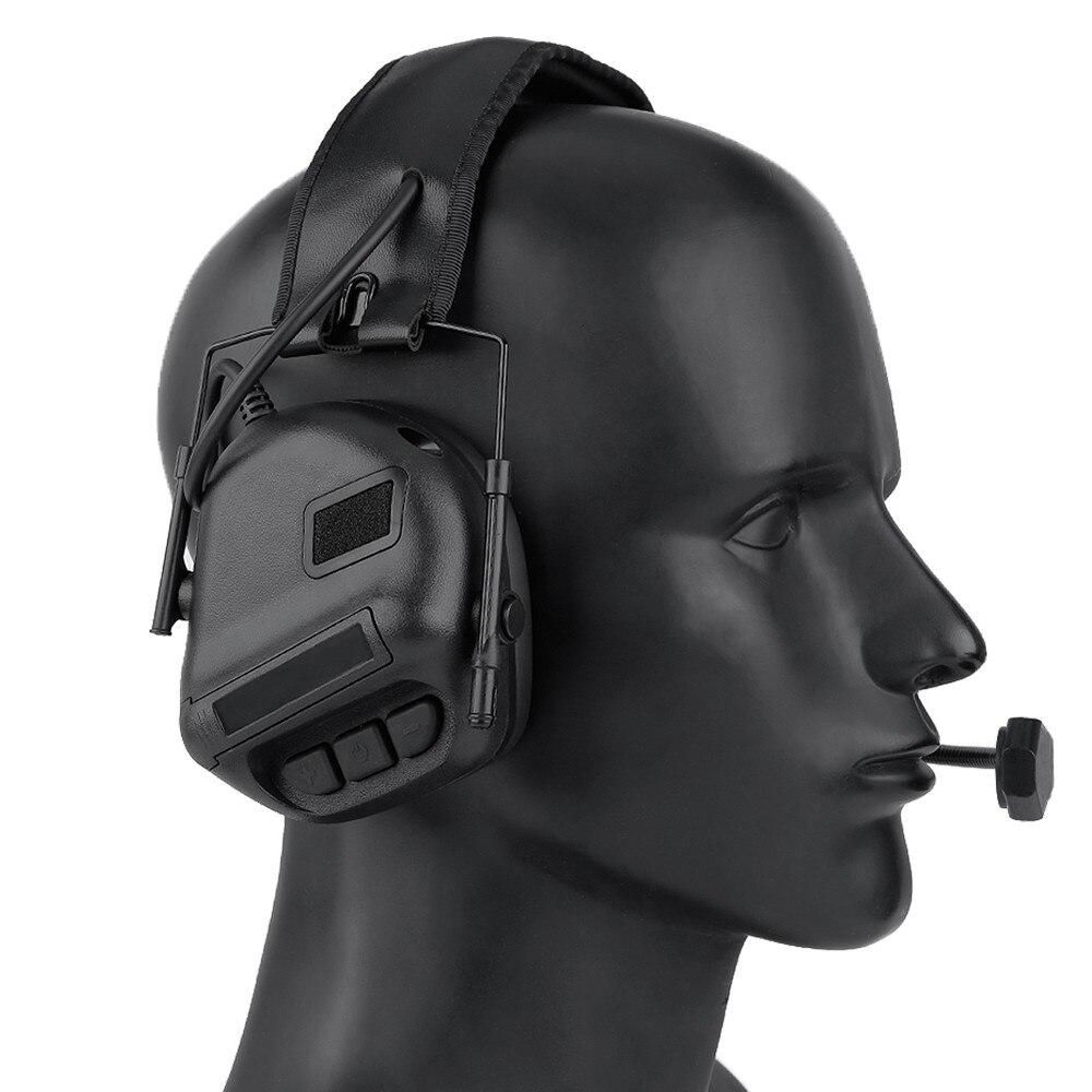 Tático fone de ouvido militar redução ruído