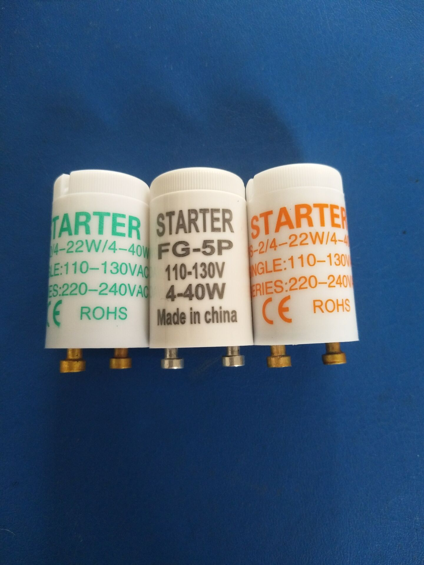 25pcs/lot Fuse Starter FG-5P  For 4-40W 110-130VAC Mosquito Lamp Fuse Starter FG-5P For Mosquito Lamps 4-40W CE ROHS