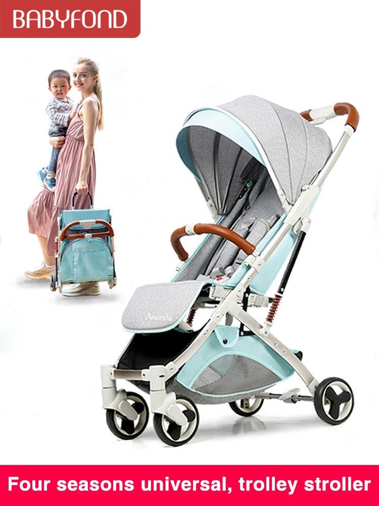Gold Frame Lightweight Stroller Summer Travel Baby Stroller Portable Fold Shock Boarding Stroller Many Colors