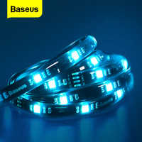 Baseus-Tira de luces LED RGB 5050 para Gamer, PC, TV, habitación, luz de fondo a Color, 5V, Cable de Ledstrip, tira de LED RGB inteligente