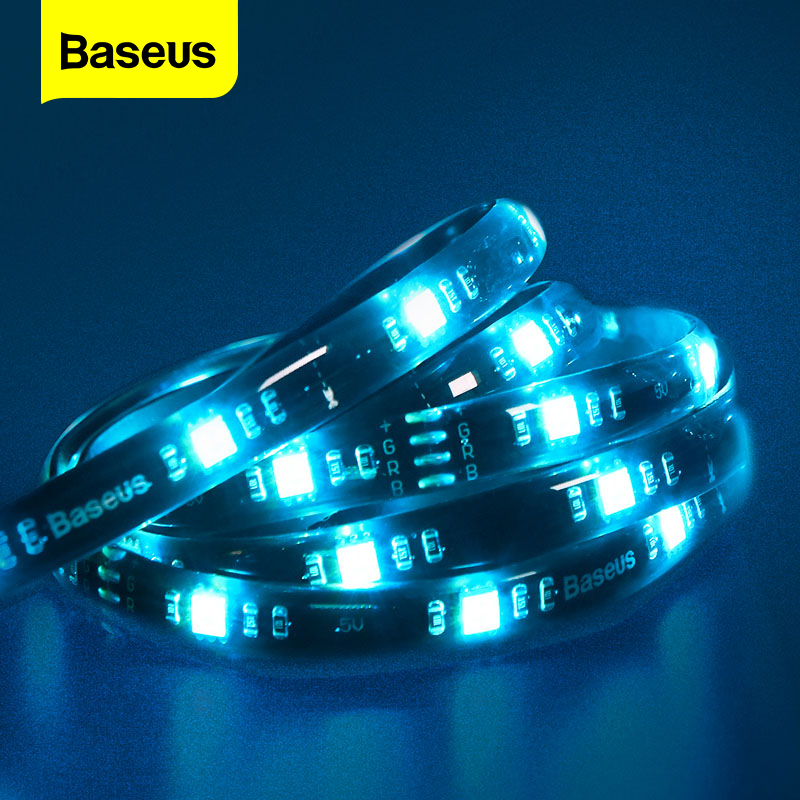 Baseus Smart LED Strip RGB 5050 USB LED Light Strip For Gamer PC TV Room Color Backlight 5V Ledstrip Wire Cable RGB LED Stripe(China)