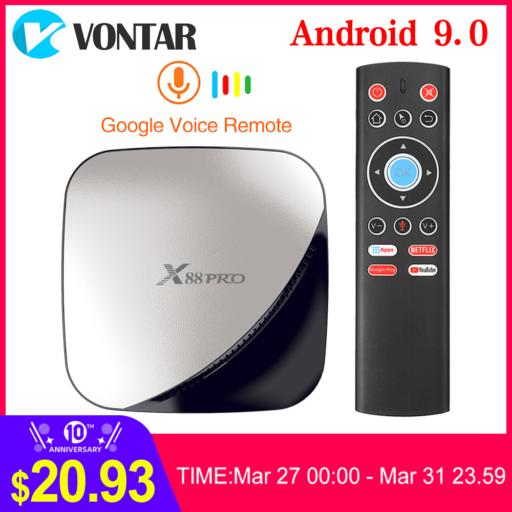 X88 PRO TV Box Android 9.0 4GB RAM 128GB 64GB 32GB Google Voice Assistant RK3318 Quad Core Wifi 4K X88PRO 2GB 16GB Set Top Box