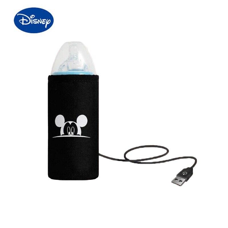 Chauffe-bouteille USB Disney Mickey, chauffe-bouteille dessin animé, accessoire d'alimentation pour bébé