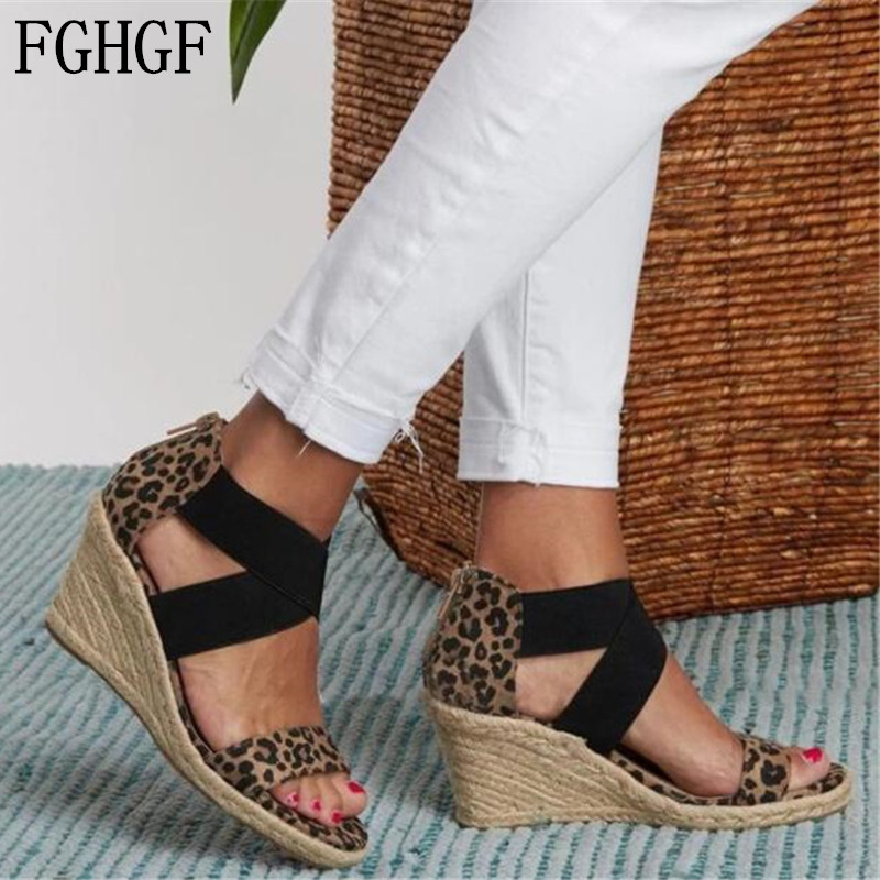 Platform Wedges Sandals Women Summer Gladiator Casual Shoes Ladies High-heeled Sandals Outdoor Beach Mujer Plus Size 35-43 S129