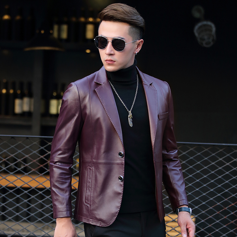 Genuine Leather Jacket Men Spring Autumn Real Sheepskin Coat Mens Leather Jackets and Coats 2020 AD-DP71104 YY320