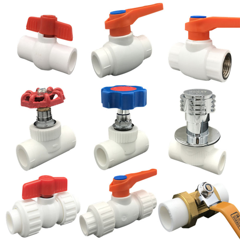 Ppr Valve Faucet Joint Heating Hot Melt Switch 20 25 32 Plumbing Fittings