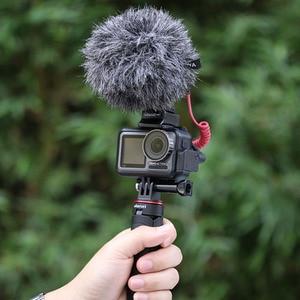 Image 5 - CYNOVA DJI אוסמו פעולה מיקרופון מתאם 3.5mm/USB C אודיו חיצוני 3.5mm מיקרופון הר עבור TRS תקע DJI אוסמו פעולה אבזרים
