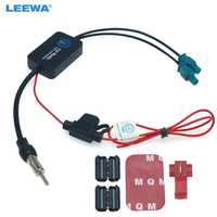 LEEWA 12V Car Radio FM/AM Aerial Antenna Signal Booster Amplifier For Audi Volkswagen FAKRA II Connector Booster #CA6141