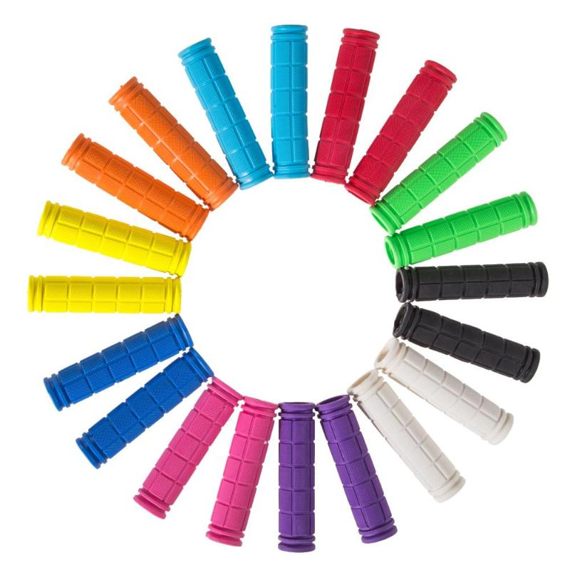 12cm Rubber Bike Handlebar Grips Cover BMX MTB Mountain Bicycle Handles Anti-skid Bicycles Bar Grips Fixed Gear Parts 10 Colors
