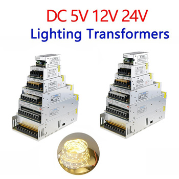 12V Power Supply 12v 5a 24v 36v 48v 5v Led Driver For Leds 1A 2A 3A 5A 10A 15A 20A 25A 30A 40A 50A 60A Lighting Transformers genuine meanwell driver elg 100 48a 96w 2a 48v adjustable led power supply