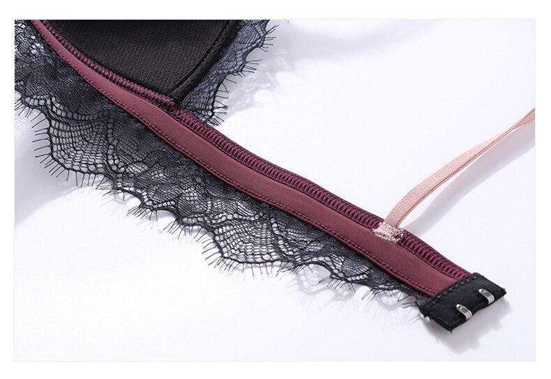 H3d9e02fbe4664f1baf158446b4ab2d5fC Sexy New Ladies Underwear Lace Bra Set Eyelash Lingerie Women's Push Up Bralette Comfortable Bra and Panty Set Luxury Intimates