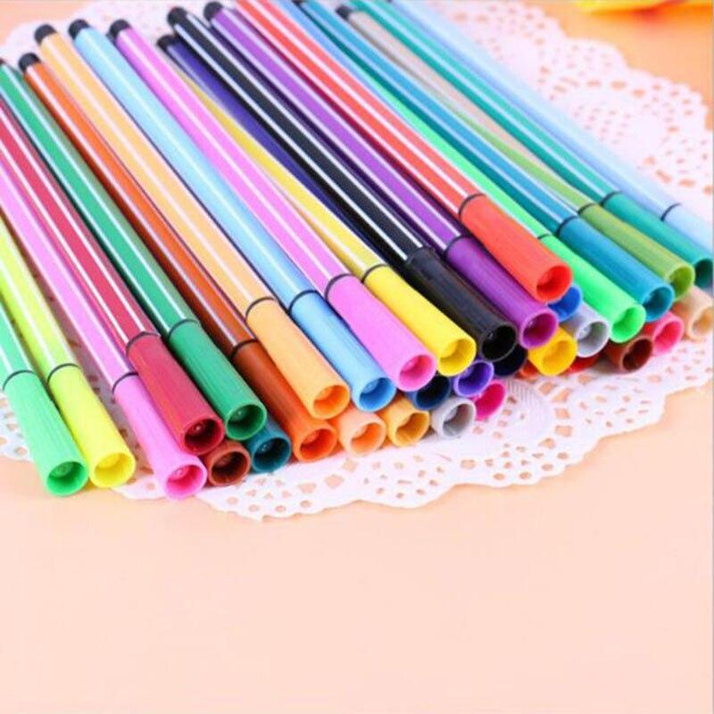 Crianças pintura 36/24/18/12 não-tóxico cor lavável aquarela caneta marca pintura suprimentos de arte das crianças