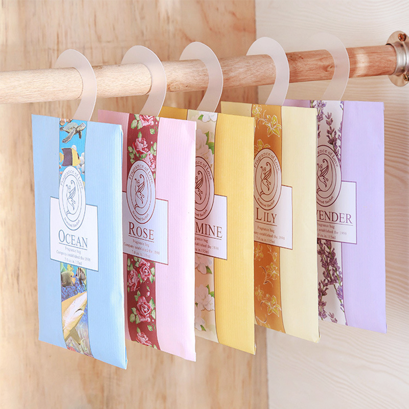 1 PC 6 Scents Air Freshener Home Lavender Refresher Hanging Fragrant Sachet Wardrobe Aromatherapy Bag Anti-insect And Anti-mold