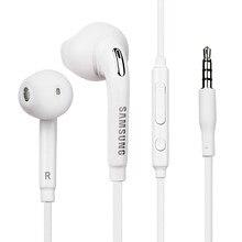 Samsung słuchawki EO-EG920 słuchawki przewodowe sterowanie mikrofonem słuchawki douszne 3.5mm słuchawki do Galaxy S6 S7 Edge S8 S9 S10 Plus A41 A7