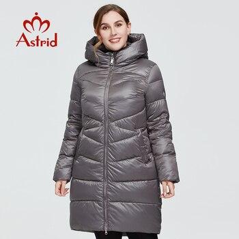Astrid 2020 delle Nuove donne di Inverno cappotto lungo delle donne Modello parka caldo di modo Giacca con cappuccio Bio-Imbottiture di grandi dimensioni abbigliamento femminile 9215 1