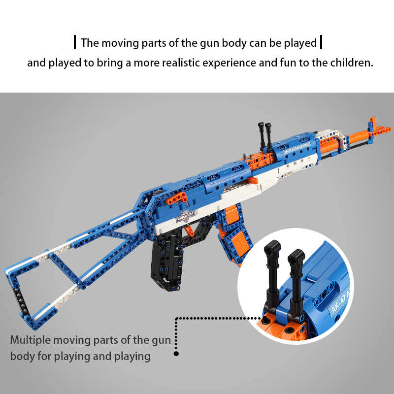 Cada AWP Revolver Pistol Brick Legoing AK47 Riffle Gun SWAT Technic Military Army Building Blocks Weapon Toys For Children