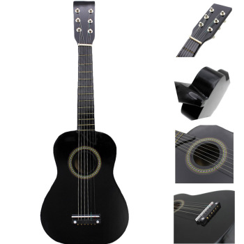 23 Inch Folk Acoustic Guitar Music Instrument Mini Guitar For Beginner Children Music Lover Guitar(Black/Red) Guitar