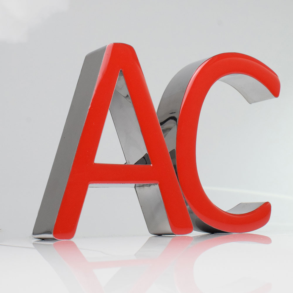 Custom 3D Led Epoxy Resin Letters Sign Logo Frontlit Metal Advertising Signage Stainless Steel Channel Letter Enseigne Lumineuse