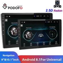 """Podofo 2din Car Radio 9"""" & 10"""" 2.5D GPS 2 DIN Android Car Multimedia Player for Volkswagen Nissan Kia Toyota Skoda Car Stereo"""