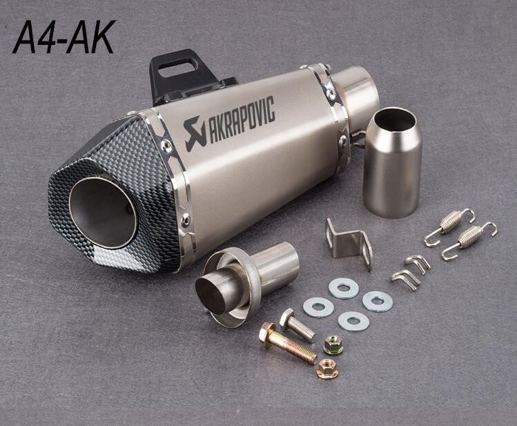 Akrapovic 51 millimetri di trasporto Del Motociclo tubo di scarico mufflersmall esagonale di scarico con DB killer per Z900 MT09 KTM390 CBR1000 R6 FZ8 R25