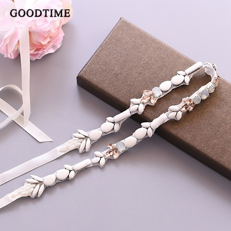Fashion Bridal Belts Luxury Rhinestone White Drip Opal Belt Wedding Dress Accessories For Women Girl Party Night Dress Belt