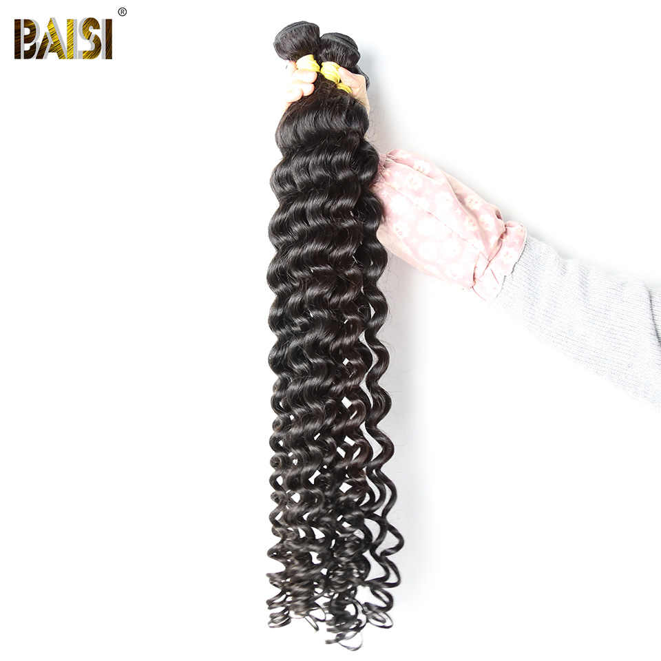 BAISI Hair Peruvian Virgin Hair Natural Wave Long Hair 28-38 Inch 100% Human Hair