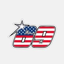 뜨거운 크리 에이 티브 자동차 스티커 미국 69 번호 앞 유리 범퍼 오토바이 헬멧 전사 술 A4 Q3 자동 장식