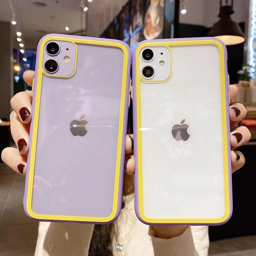 Shockproof Tangguh Transparan Bumper Kasus untuk iPhone SE 2020 Se2 - Aksesori dan suku cadang ponsel - Foto 1