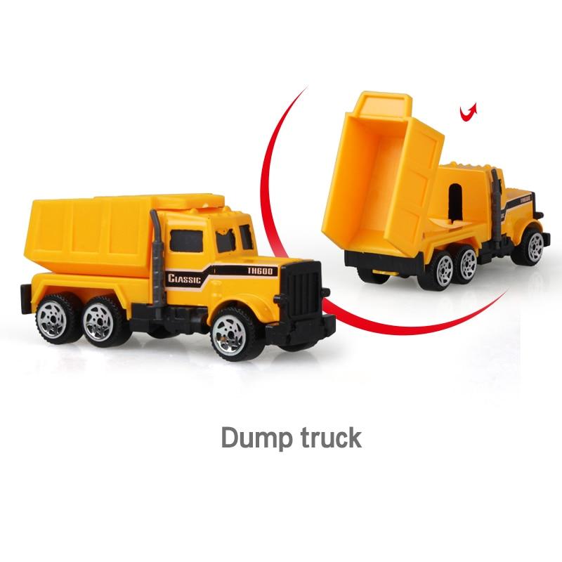 Литая под давлением сельскохозяйственная техника мини-модель автомобиля Инженерная модель автомобиля трактор инженерный автомобиль трактор игрушки модель для детей Рождественский подарок - Цвет: Dump Truck