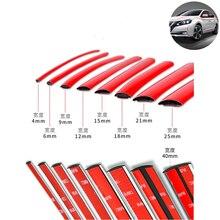 Самоклеящаяся красная Декоративная полоса для автомобильного бампера «сделай сам», 3 м/5 м, утолщенный ПВХ материал для предотвращения цара...
