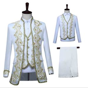 Men`s Medieval Victorian Tuxedo Suit Blazer Suit Jacket Coat Vest Pants Fantasia Male New Year Costume For Male Plus Size 4XL(China)