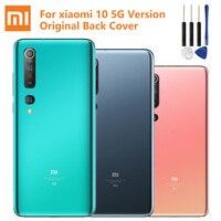 Original de la batería de cristal, de atrás para Xiaomi 10 M10 Mi 10 Mi10 5G versión de la batería del teléfono carcasa posterior para casos de la contraportada