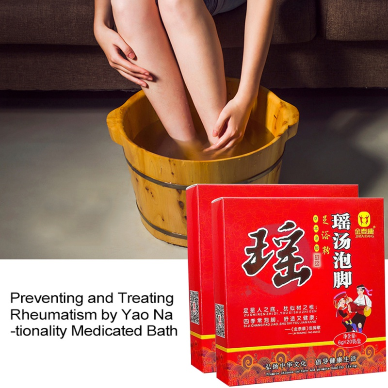 Foot Soaking Powder Relieve Joint Pain Dampness Expelling Dispel Cold Foot Bath Powder